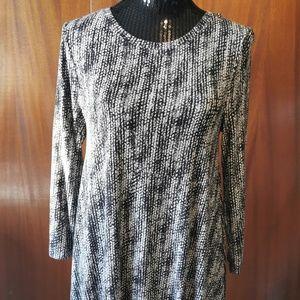 Cynthia Rowley Black & White Rayon Dress Size Med
